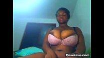 big ebony boobs in a bra