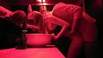 girlfriend records herself cheating on boyfriend with stranger in club restroom.